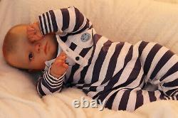 Custom Made Ooak Baby Girl / Boy Realborn Joseph Awake Par L'artiste Marie Avec Coa