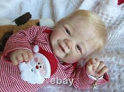 Darling Reborn Baby Boy Doll Vivienne Par Sandy Faber- Artiste Paris Alley