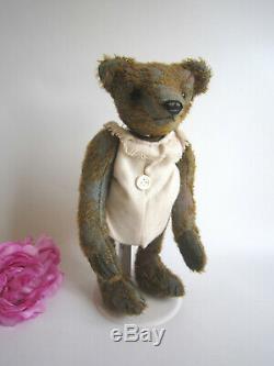 Designer Ooak Ours Artiste Mohair Par Nadja Bears, Belgique. 11. Sac Cadeau Plus