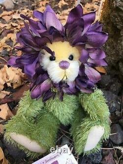 Dilly Dahlia Artiste Mohair Teddy Bears Virginia Jasmer Jazzbears Floral Vintage