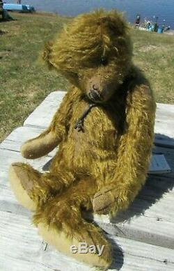 Distressed Mohair Ours En Peluche Antique Key 15 Artiste Mariel Prondzinski Ooak Mots Clés