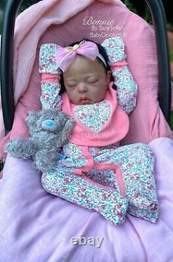 Ethnic Reborn Baby Girl Doll Bonnie (rare Ltd Maribel Villanova) De L'artiste Britannique