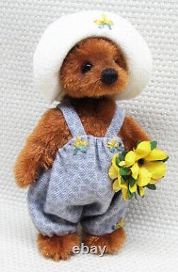 Eva Par Inge Bears Ingrid Els Artiste À La Main Artiste Miniature Ours En Peluche Ooak