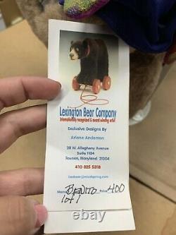 Fabriqué À La Main Lexington Bear Company Arlene Anderson Vintage Teddy