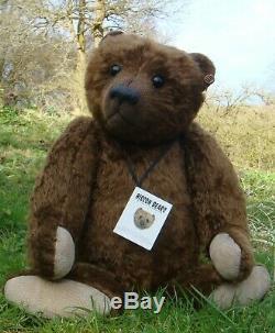 Fabuleux Ooak Bisson Ours À La Main Par Gail Thornton Grand Brown Teddy Bear