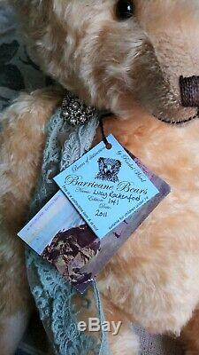 Fabulous 22 Or Blonde Mohair Barricane Ours, Ooak Lucy Rackenford 2011