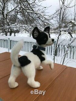 Feutrées Aiguille-laine-main-ooak-chihuahua Dog