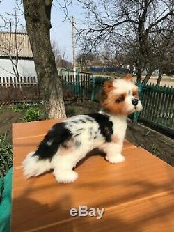 Feutrées Aiguille-laine-main-ooak-yorkshire Terrier