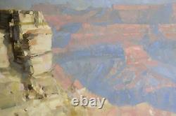 Grand Canyon Grande Taille Paysage Peinture À L'huile Original Handmade One Of A Kind