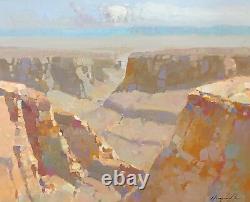 Grand Canyon, Paysage, Peinture À L'huile D'origine, Art Fait Main, Un Du Genre