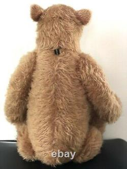 Gregory Gyllenship Mohair Vtg Teddy Bear Entièrement Articulé Grange Grizzly Rare As Is
