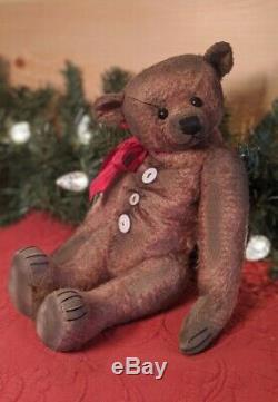 Gusto 13 Mohair Artiste Teddy Bear Par Rita Diesing De Ridibears Ooak