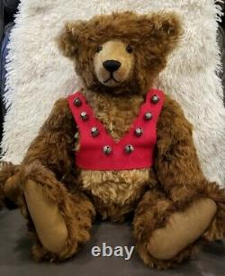 Hansel 22 Édition Limitée #13 De 25 Mohair Stier Bear Par Kathleen Wallace 1993