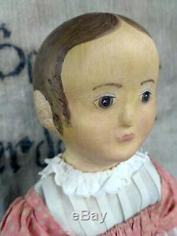 Izannah Walker Poupée D'artiste, Poupée À La Main, Poupée En Tissu, Reproduction De Poupée Antique
