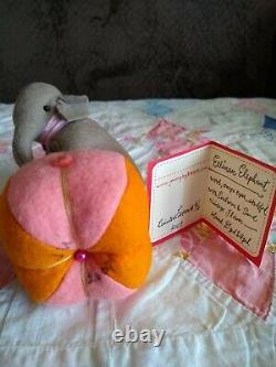 Jennifer Murphy Handmade Wool Elephant Ellinan Rare