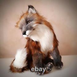 Jouet À Collectionner Réaliste Fait Main Fox Ooak (45cm)