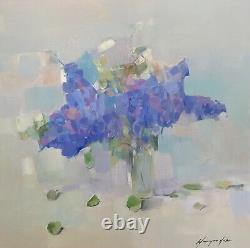 Lilas, Peinture Originale À L'huile, Œuvres D'art Faites À La Main, Unique En Son Genre