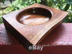Main Hawaïenne Koa Bois Art Bowl Dishone D'un Kindretro Stylelocal Artiste
