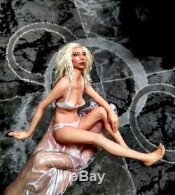 Miniature Unique Sexy Ooak Doll Pin Up Sculpture Fée Élégante Plage Lady