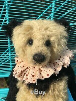 Myrtle Artiste Mohair Teddy Bear Htf Panda Jacqueline Hiver 16 Ooak