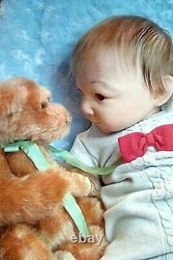 New Artist Baby Boy 23 3 Mo. Old Cassedy Par Adrie Stoete Renaît Par Peg Spencer