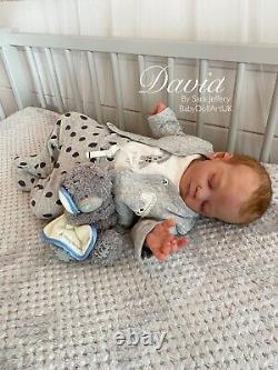 Nouveau-né Reborn Baby Boy David (tina Kewy) Par Artiste Britannique Sara Jeffery