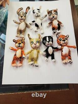 One Of A Kind Artist Dolls De Jan Shackelford, 2020 7 Little Animals
