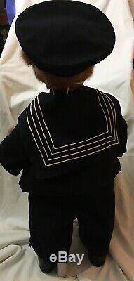 Ooak 30 Artiste Real Mink Ourson Héritier Bears / Jane Woodard Vtg Sailor Suit