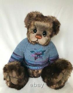 Ooak Artist Bear De Donna Hager Pour Hager Bears Bernwald 17 Pouces