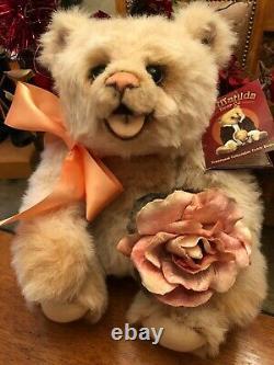 Ooak Ivory Mohair Bear Chubby Chuckles Par Oz Matilda Lisa Rosenbaum
