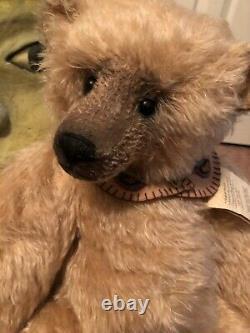 Ooak Mohair Duo Gunner Bear & Rory Rooster Créé Par Bearsley Bears
