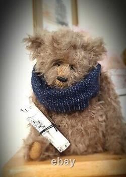 Ooak Original Handmade Collectors Artiste Mohair Teddy Bear Sir Oscar Peachy 10in