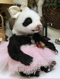 Ooak Panda Par Denise Purrington / Out Of The Bears Forêt