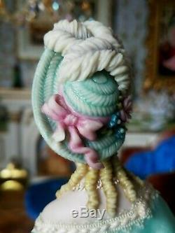 Ooak Porcelain Doll Artiste Par Costume Sally Cutts Par Susan Sirkis # 2 Moulé Cheveux