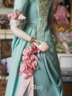 Ooak Porcelain Doll Artiste Par Costume Sally Cutts Par Susan Sirkis Moulé Hair # 1