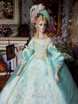 Ooak Porcelaine Artiste Doll Par Sally Cutts Moulé Cheveux # 2