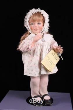 Orig Lucille Garrard Artiste Doll Susie Red Hair 14 Porcelain & Tissu Le 17/100