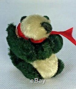 Ours En Peluche Miniature Par L'artiste Louise Pairs 2.5 Handmade Christmas Ooak