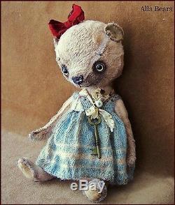 Par L'artiste Bears Alla Old Vintage Antique Art Ours En Peluche Main De Poupée En Jouet Pour Bébé