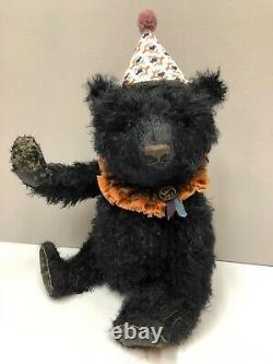 Pat Murphy Artist 18 Mohair Bear Blackie Ooak New Avec Les Étiquettes Originales