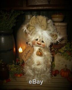 Patti Ratties 10 Ours D'automne Citrouille D'halloween L'automne Ooak Doll Artiste Sikes