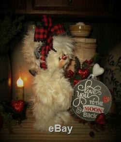 Patti Ratties 10 Ours Moonbeam Lune Valentine Ooak Doll Cadeau Artiste Sikes