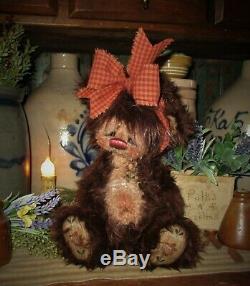 Patti Ratties 10 Teddy Bear Hershey Fleur D'étoile Cub Ooak Doll Artiste Sikes