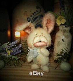 Patti Ratties 5 Lapin Lapin De Pâques Printemps Ooak Ours Cadeau Doll Artiste Sikes