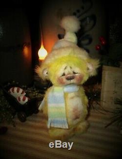Patti Ratties 5 Mini Teddy Bear Cub Ooak Doll Cadeau Artiste Sikes
