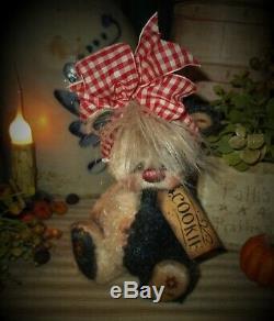 Patti Ratties 7 Ours Cookie Étoile Noire Blanc Cub Ooak Doll Artiste Sikes