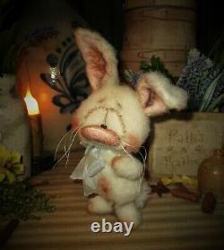 Patti's Ratties 7 Bunny Rabbit Spring Cottontail Ooak Doll Bear Artist Sikes