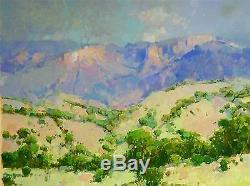 Paysage Peinture À L'huile, De Grande Taille, Toile À La Main L'œuvre One Of A Kind Signé