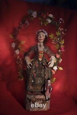 Peter Wolf Artiste Allemand Le Marionnettiste Automaton Figural Art Sculpture Ooak