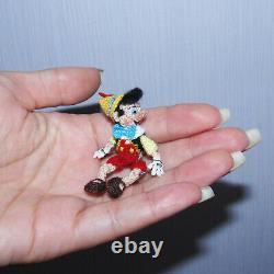 Poupée Miniature Poupée Pinocchio 2 Artiste Crochet Poupée Jouet Collectible